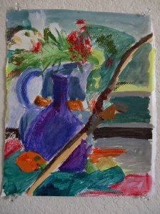 still life with acrylic skins