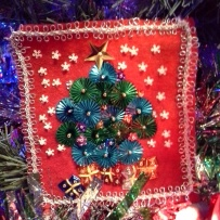 Day 8 a sequin Tree made from some scraps I had