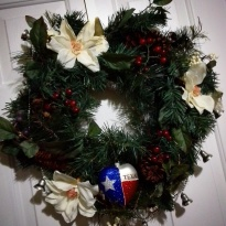 Day 10 Our alternative wreath for indoors