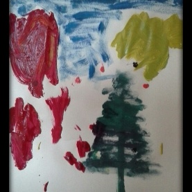 Day 11 a painting I made with my Grand-daughter that afternoon