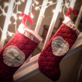 Day 13 our stocking hanging in anticipation
