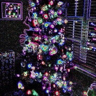 Day 15 Photo of our Tree last year using a little photo editing to create the magic